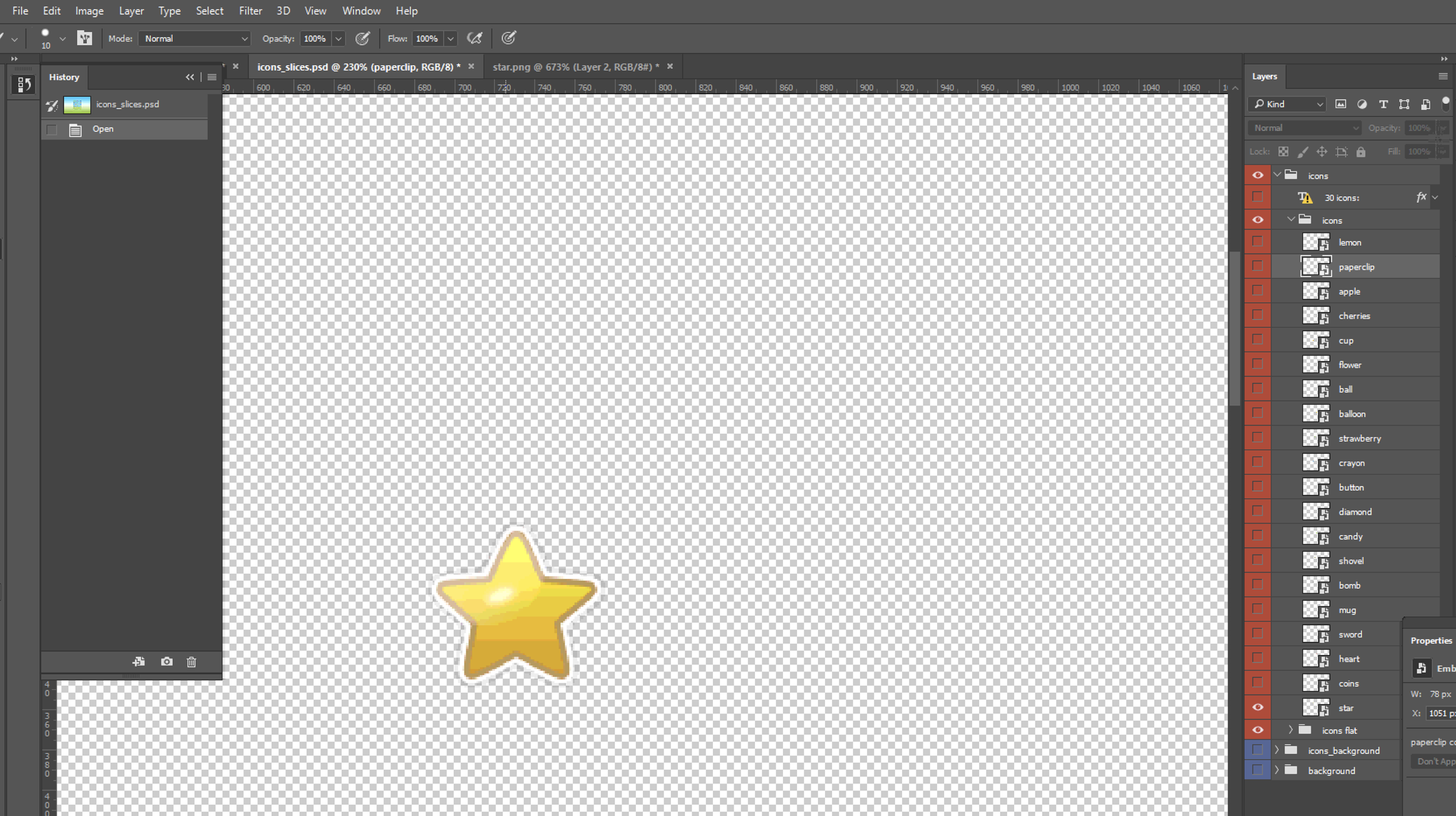 turned all layers off except for the layer with the star icon