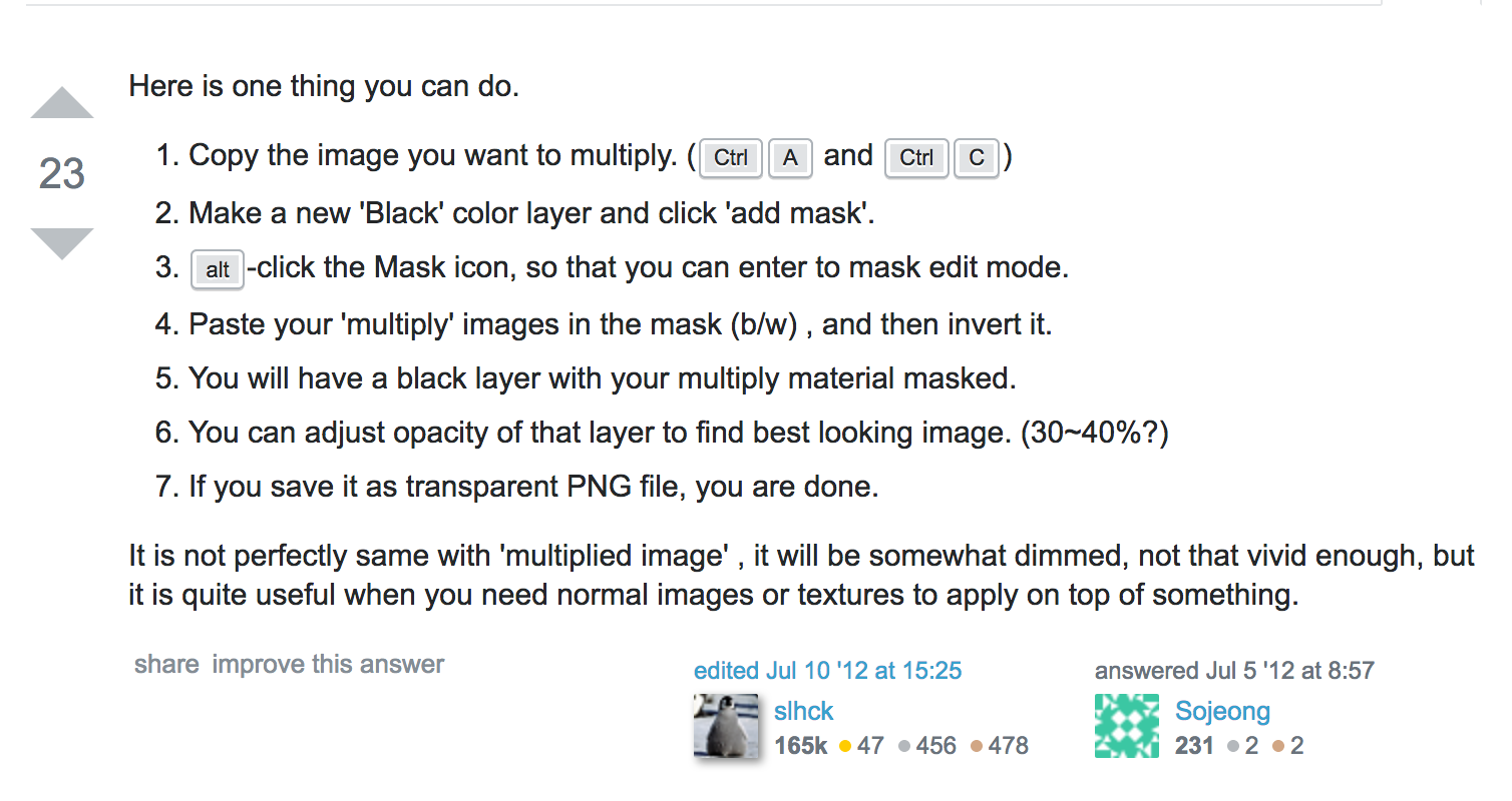 stackexchange response for how to create a mask that allows you to export a multiply layer out to a regular ol' PNG