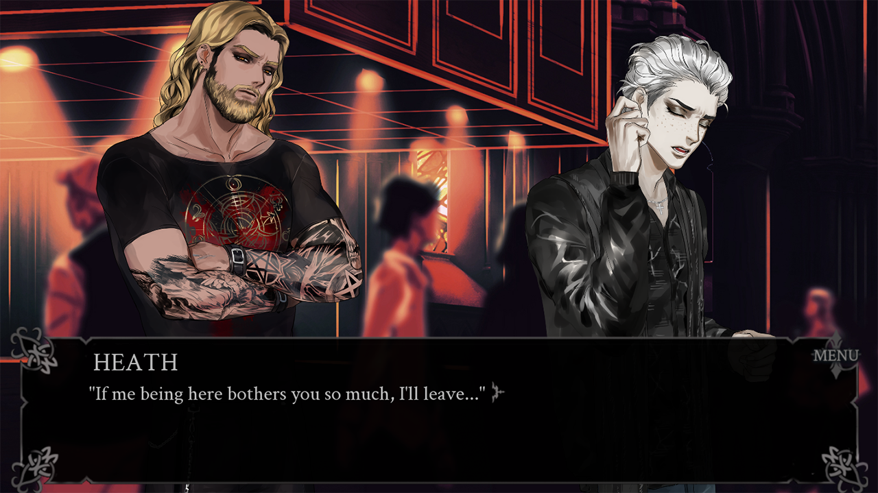 Heath talking to Randal in the club saying: If me being here bothers you so much, I'll leave...