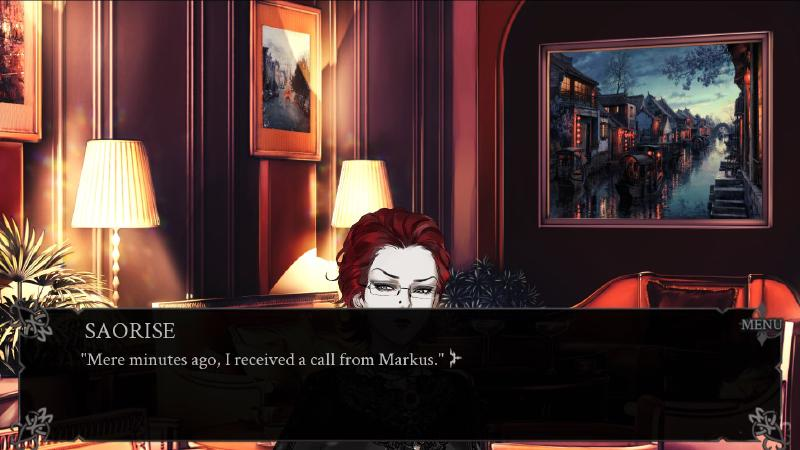 saorise is halfway below the textbox on the screen