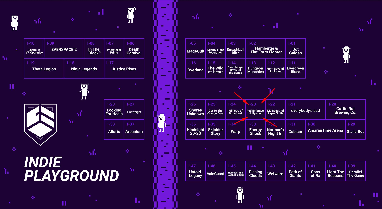 dreamhack atlanta 2019 indie playground map