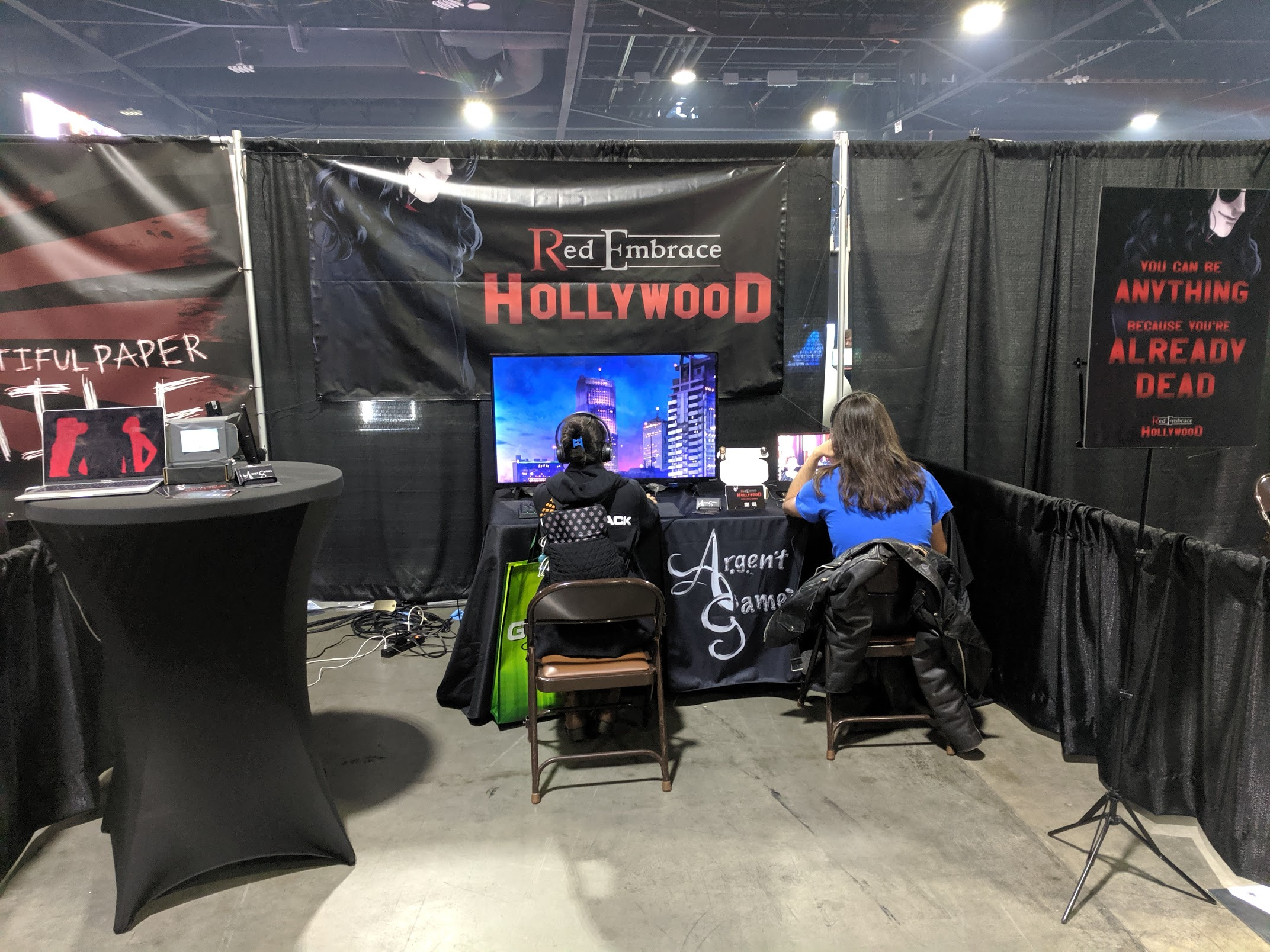 attendees playing red embrace hollywood