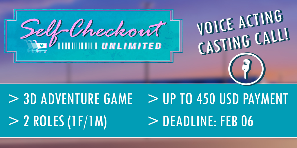 Self-Checkout Unlimited voice acting announcement