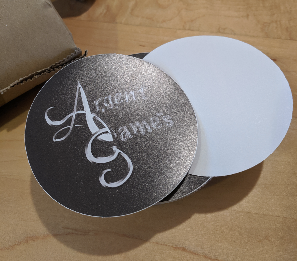 Large round Argent Games stickers