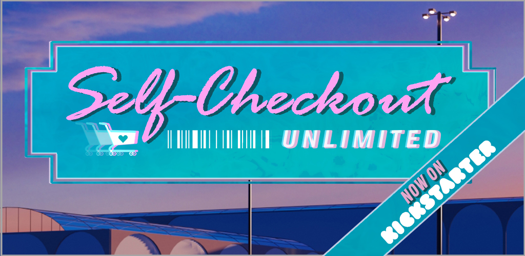 Self-Checkout Unlimited key visual with kickstarter banner