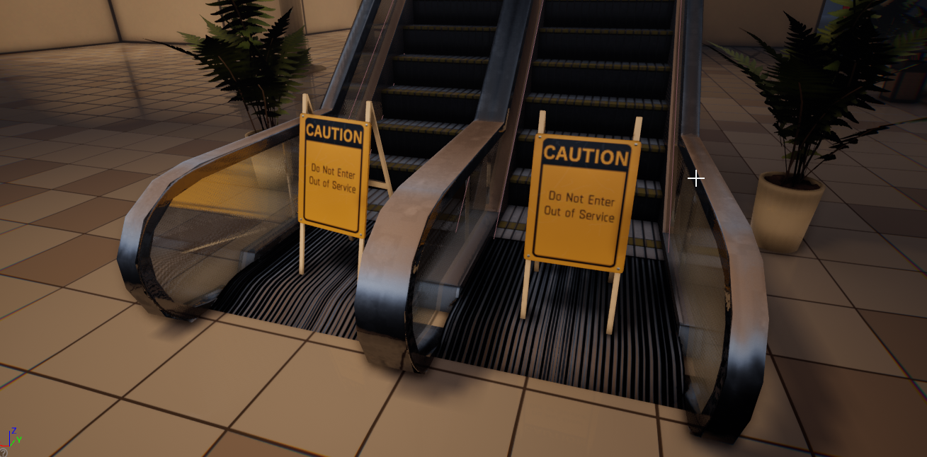 Out of service escalator signs