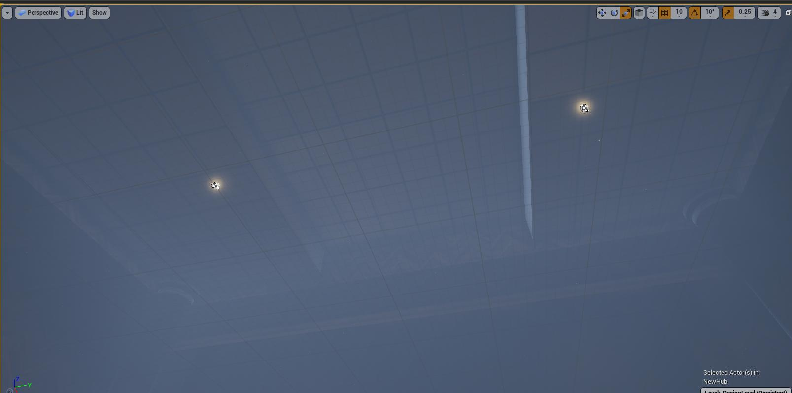 Very dense blue fog on the ceiling
