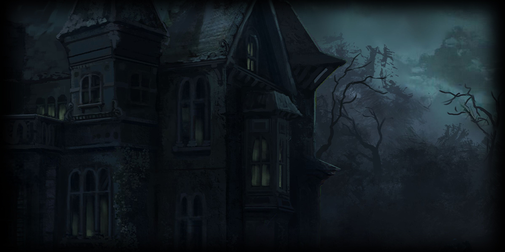 dark manor BG in a forest
