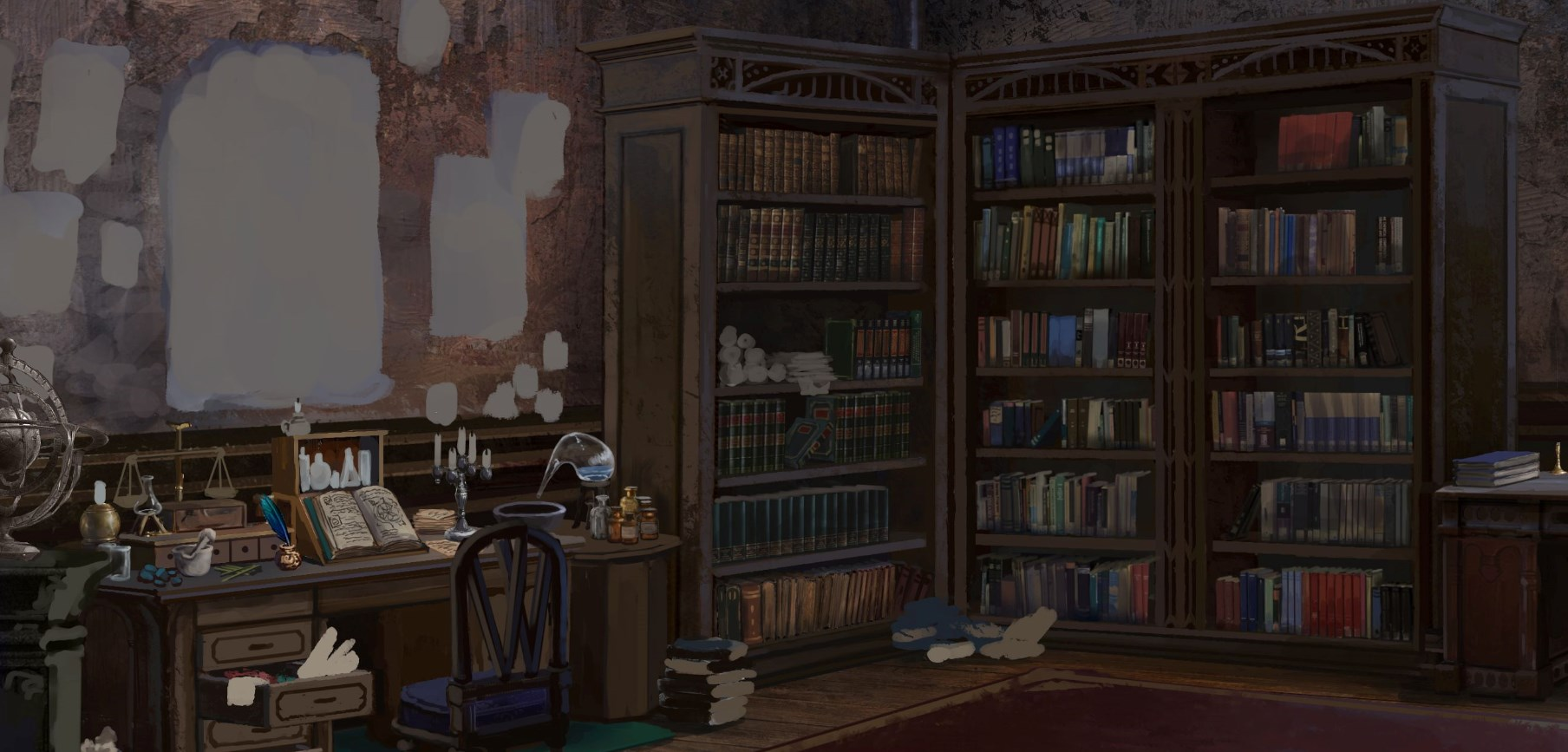 victorian styled study background