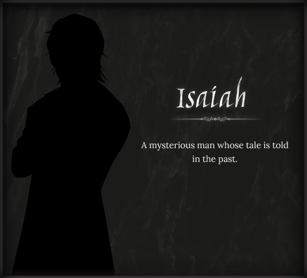 panel with info about character isaiah