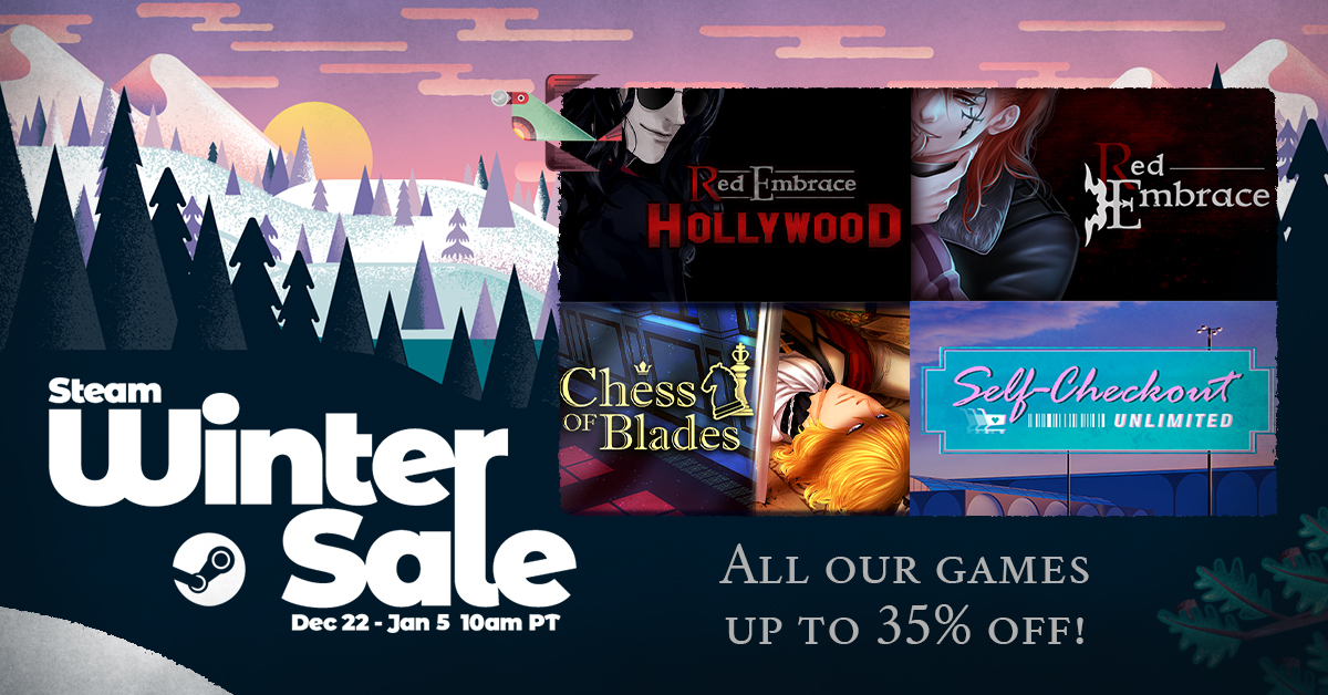 steam winter sale banner showing key visuals on right of reh, re, scu, and cob