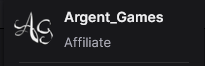 argent games with the text twitch affiliate below