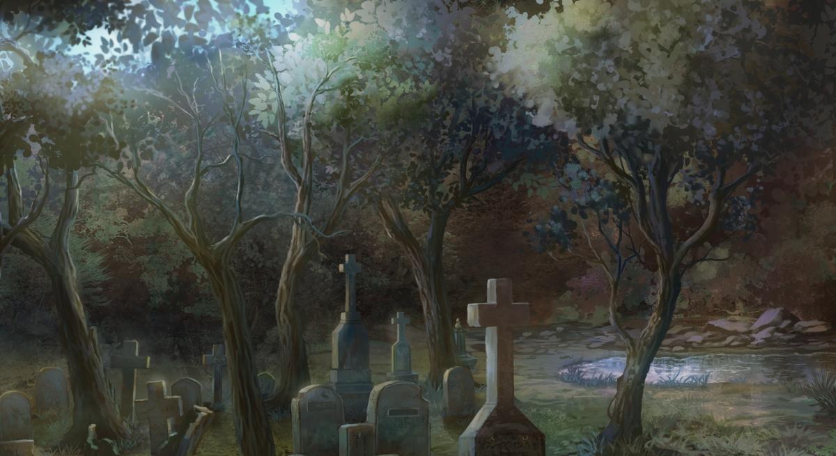 pale cachexia BG of a graveyard