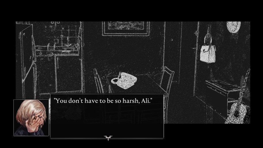 screenshot of text, caption: 'You don't have to be so harsh, Ali...'