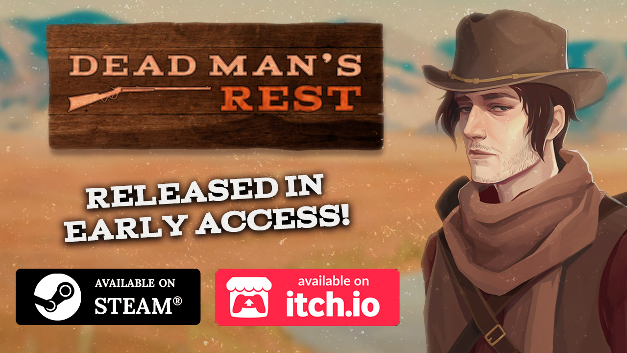 dead man's rest banner on a desert background with the mc lee mccarthy at right